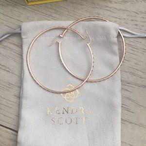 Kendra Scott rose gold hoops